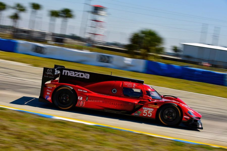 Pigot's Mazda RT24-P Contends For Victory Until Closing Stages of 12 Hours of Sebring