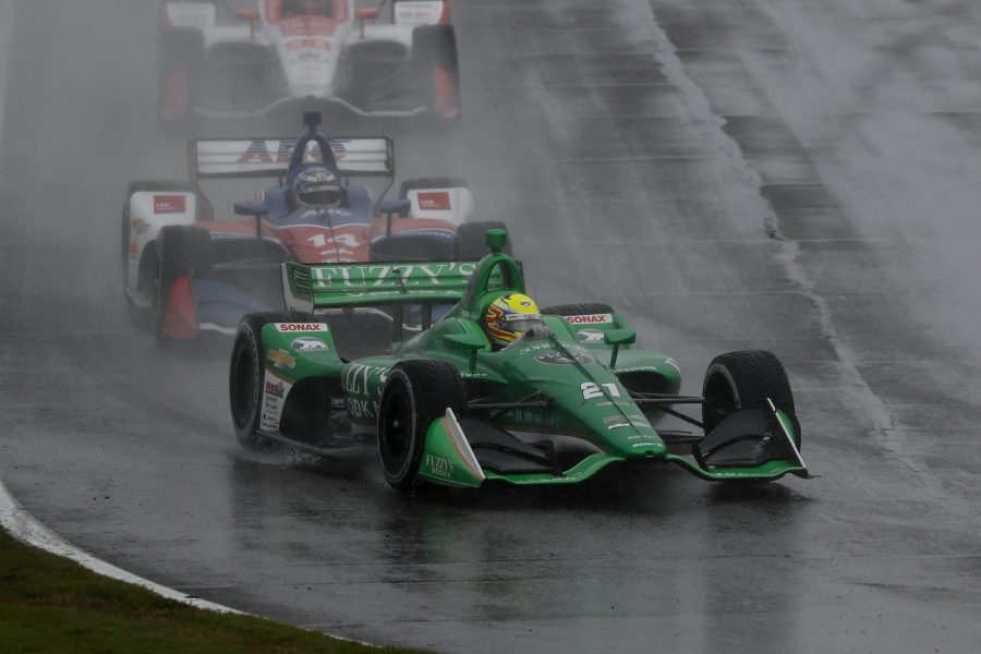 Pigot Races Through the Rain At Barber Motorsports Park