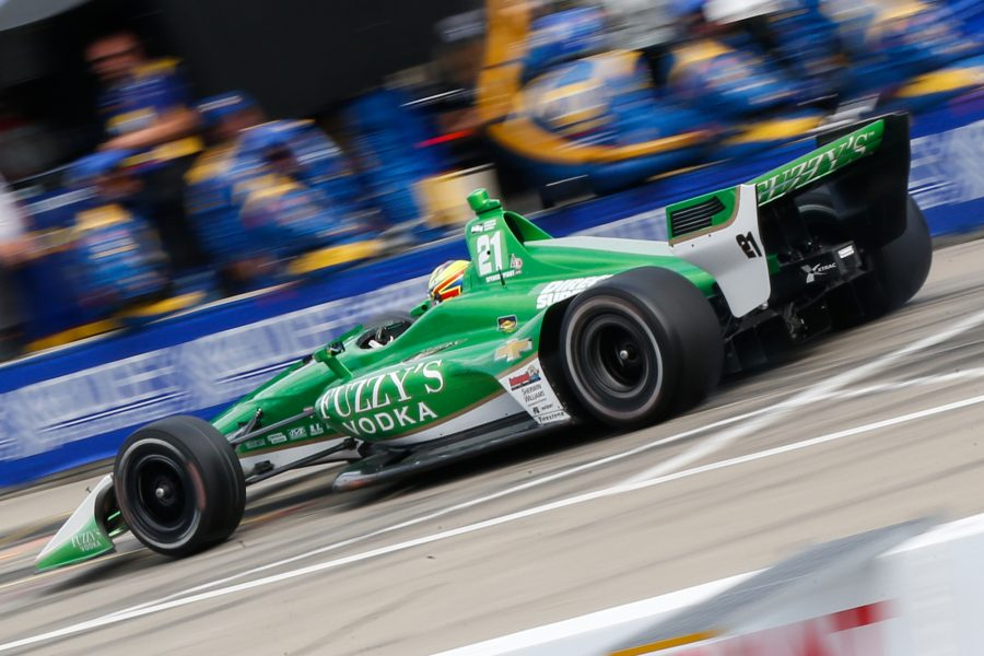 Frustrating and Early Exit for Pigot in Race 2 of Detroit Doubleheader