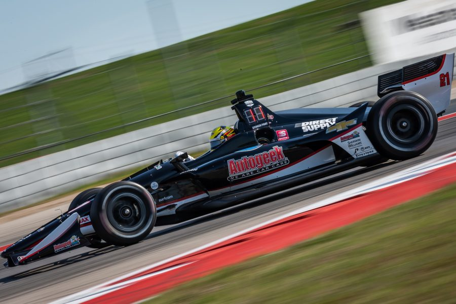 Eventful Day for Pigot in First IndyCar Race at COTA