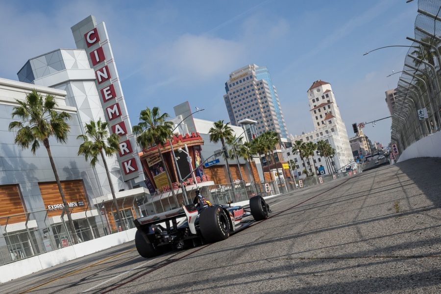 Pigot Takes Checkered Flag After Lap 1 Incident in Long Beach